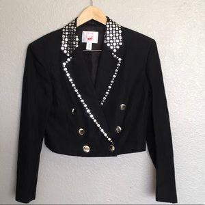 Mondi Black Cropped Stud Jacket